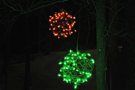lighted christmas balls outdoor lights 2013 decor and