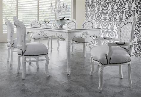 table a manger baroque casa padrino baroque ensembles de diner blanc blanc table 224 manger 6 chaises