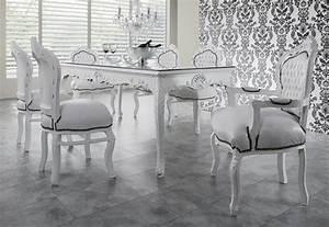Barock Möbel Weiß : barock esszimmer set wei wei esstisch 6 st hle m bel tisch ebay ~ Markanthonyermac.com Haus und Dekorationen