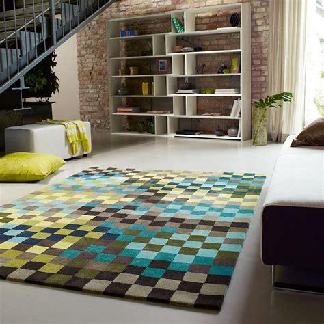 tapis bleu et vert tapis pixel moderne bleu et vert esprit home 200x300