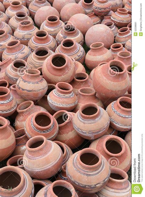 lot  clay pots  sale   local fair india stock