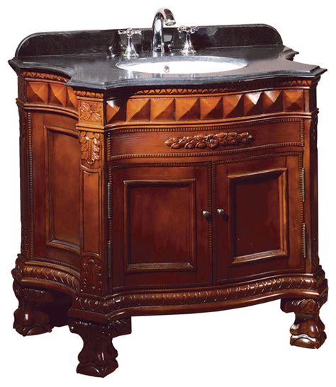 ove decors buckingham cherry vanity with black
