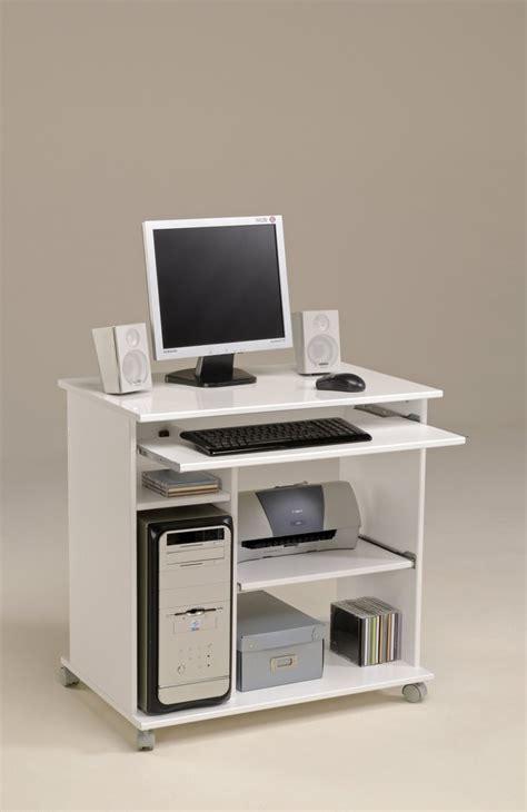 bureau informatique mobile poppy3 blanc brillant tous les produits mobilier de bureau prixing