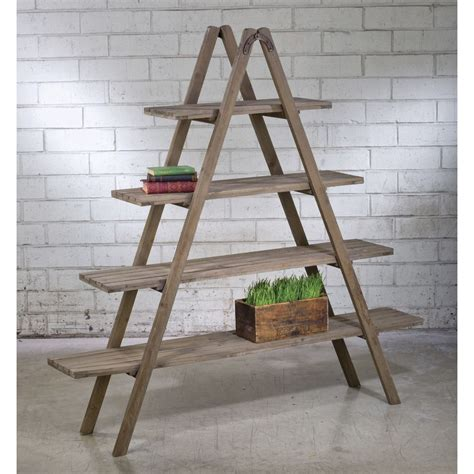 A Frame Bookcase by Reclaimed Wood A Frame Shelf Unit