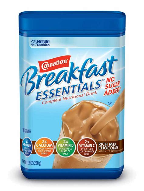 Amazon.com : Carnation Breakfast ESSENTIALS No Sugar Added