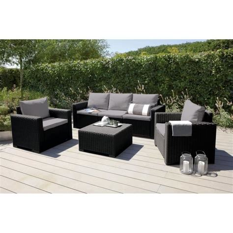 california salon de jardin 5 places en r 233 sine aspect rotin tress 233 gris achat vente salon