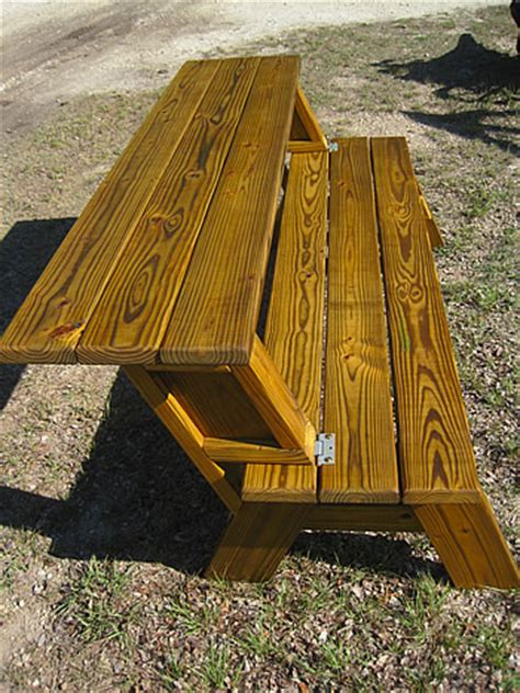 Bench Converts to Picnic Table Plans for Half
