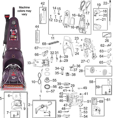 bissell  proheat  deep cleaner parts
