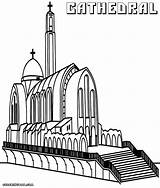 Coloring Cathedral Pages Colorings Designlooter sketch template