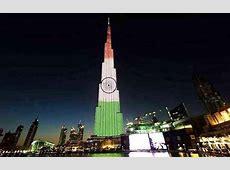 Burj Khalifa lights up in Tricolour to celebrate India's