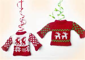 new in the store tacky sweater ornaments the sweater shop