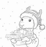 Llama Coloring Pages Printable Pajama Drama Christmas Activities Pajamas Printables Holiday Template Gifts Cn Tower Getcolorings Coloringhome Sheets Getcoloringpages Getdrawings sketch template