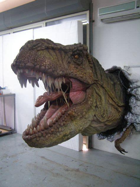 real life sculptures life size huge  rex sculpture cw motorized movements dinosaur art
