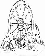 Wagon Wheel Coloring Pages West Western Clipart Wheels Colouring Drawing Sheets Coloringbookfun Updated Cart Clip Printable Books Covered Horse Little sketch template