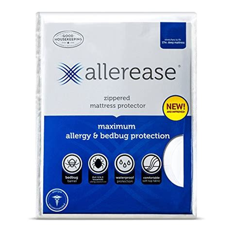 Allerease Maximum Allergy Protector Bedding by Allerease Maximum Allergy And Bedbug Waterproof Zippered