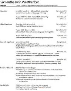 speech therapist resume sample resume sample speech pathologist resume