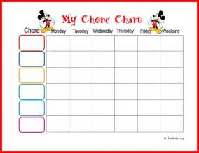 HD wallpapers printable weekly chores chart