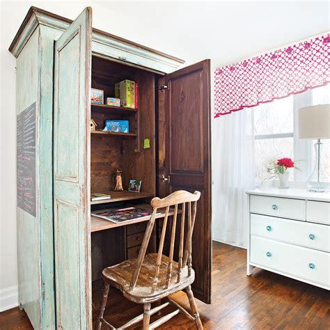 bureau dans armoire transformer une armoire en bureau bureau dans une