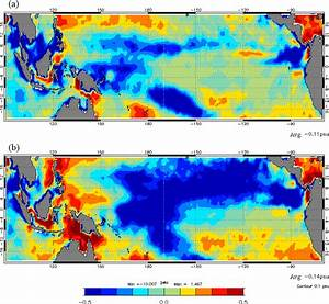 Sss Anomalies  Practical Salinity Scale  Pss  In 2014  A
