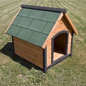 Wooden dog house cabin kennel temple webster for Ready dog kennel