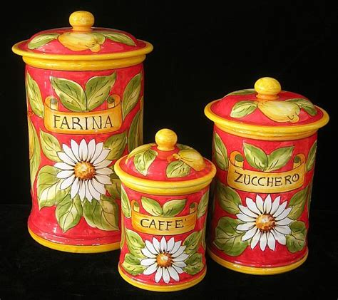 italian canisters kitchen 1000 images about kitchen canisters on metals