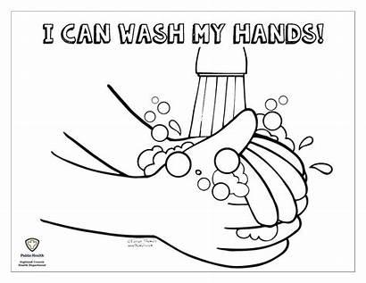 Washing Coloring Handwashing Hands Keep Drawing Covid