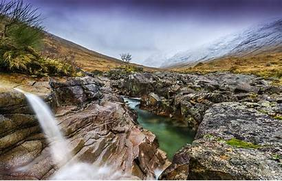Kingdom Scenery Mountains United Yorkshire Waterfalls Nature