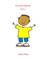 preschool spanish september lesson plans spanish