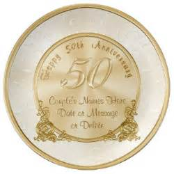 50th wedding anniversary favors 50th wedding anniversary plates zazzle