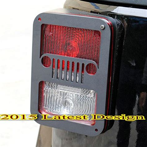 tail l guards jeep wrangler sunroadway 2 x tail l tail light cover trim guards