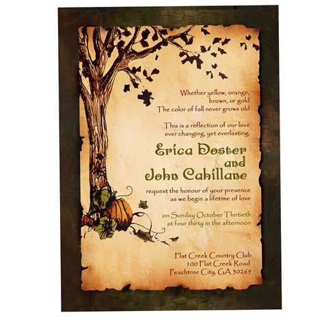 Country Feels Template by Rustic Fall Wedding Invitations Rustic Fall Wedding
