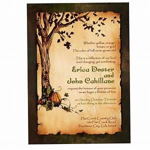 rustic fall wedding invitations rustic fall wedding With blank autumn wedding invitations