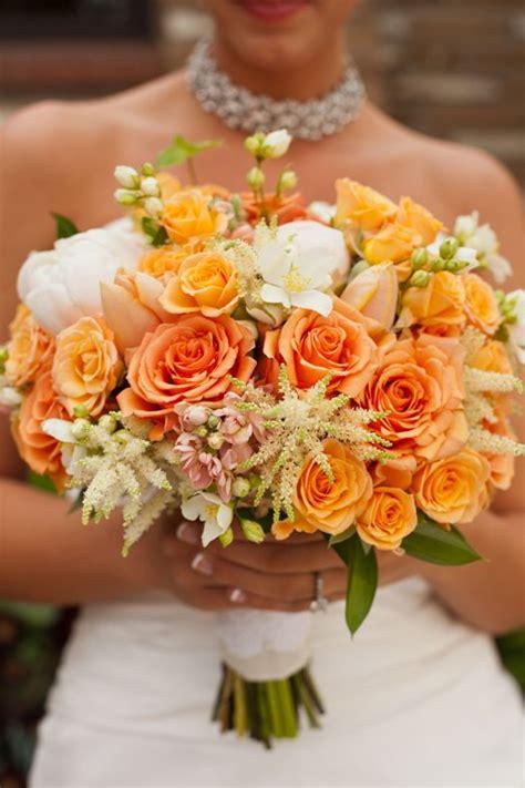 ideas  orange wedding bouquets  pinterest