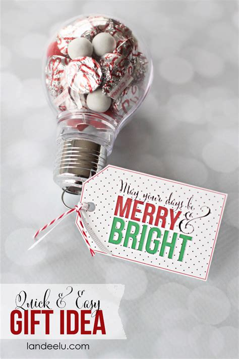 merry and bright gift idea with printable tag landeelu com