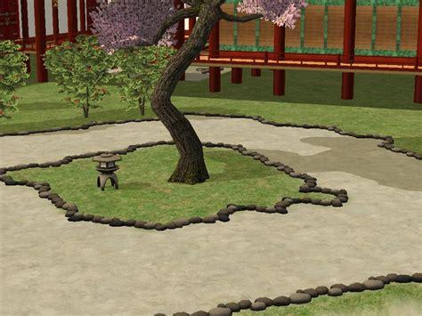 mod  sims japanese style rocks fence