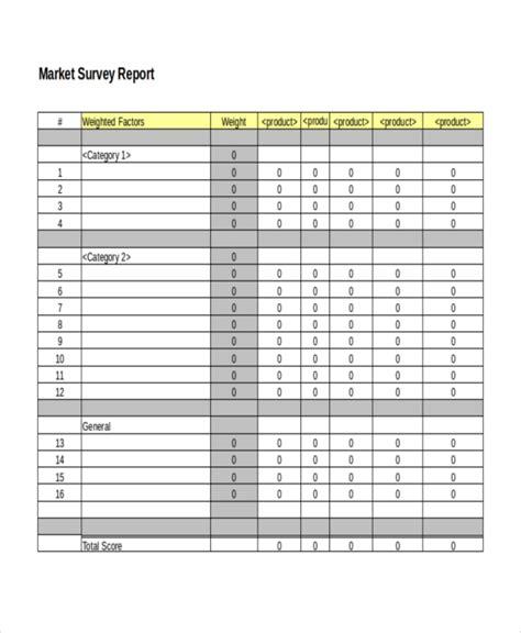 survey templates  word  format