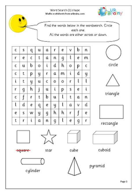 year 1 maths homework shapes 2d and 3d shape worksheets