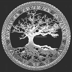 """""""Celtic Tree of Life, Yggdrasil [Silver]"""" by Serge"""