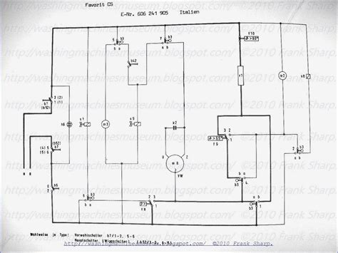 wiring diagram of washing machine with dryer circuit and