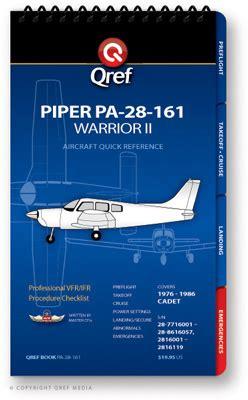 piper warrior ii pa   checklist qref book