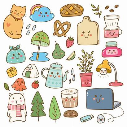 Stickers Kawaii Doodles Sticker Patches Premium Pegatinas