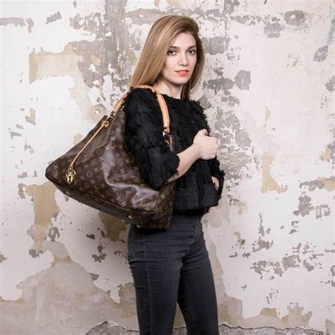 louis vuitton artsy bag large model  brown monogram canvas  stdibs