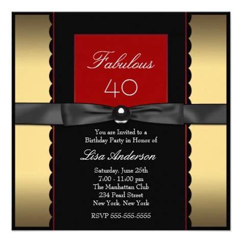 womans gold black and birthday invitation zazzle birthday invitations