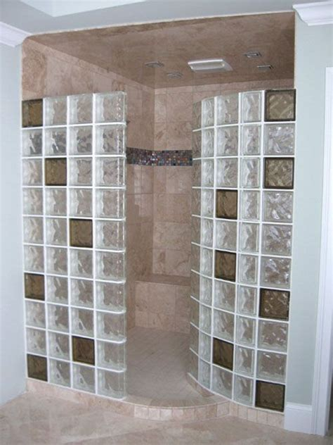 Glass Block Bathroom Designs by Colored Glass Blocks For Showers Best Of Favorites In