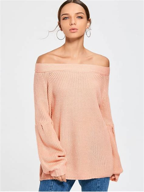 pink the shoulder sweater puff sleeve shoulder sweater light pink sweaters one