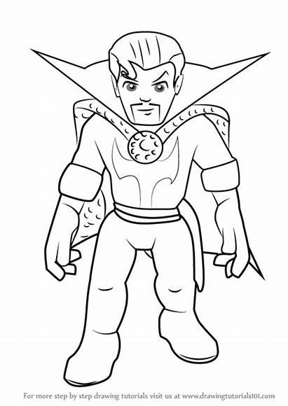 Strange Draw Dr Hero Super Squad Drawing