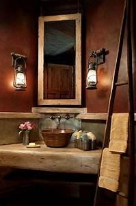 Rustikale Lampen Landhausstil : 23 fantastische rustikale badezimmer design ideen ~ Sanjose-hotels-ca.com Haus und Dekorationen