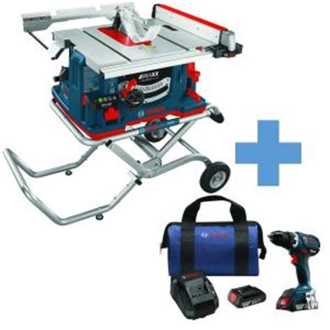 bosch 15 10 in table saw bosch 10 in 15 amp reaxx jobsite table saw with bonus 18