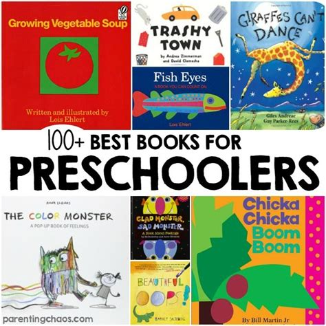 100 of the best books for preschoolers parenting chaos 100 | best preschool books