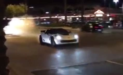 chevrolet corvette  crashes leaving arizona car meet
